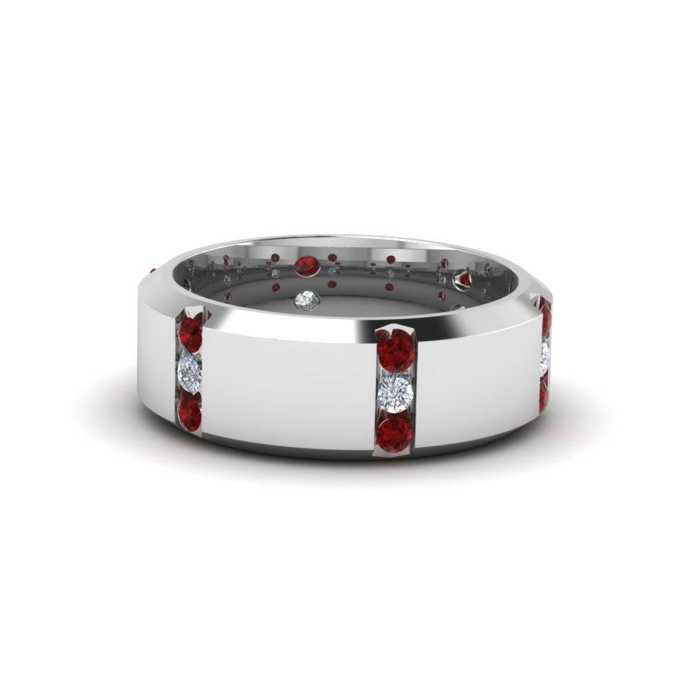Shop For Classy Ruby Mens Wedding Bands | Fascinating Diamonds Regarding Men's Wedding Bands With Ruby (View 11 of 15)