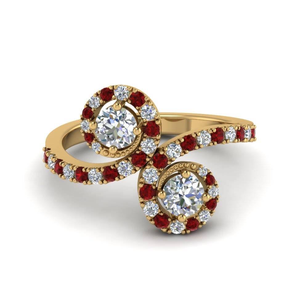 Shop For Latest Twist & Swirl Engagement Rings At Fascinating Diamonds Inside Ruby Engagement Rings For Women (View 15 of 15)