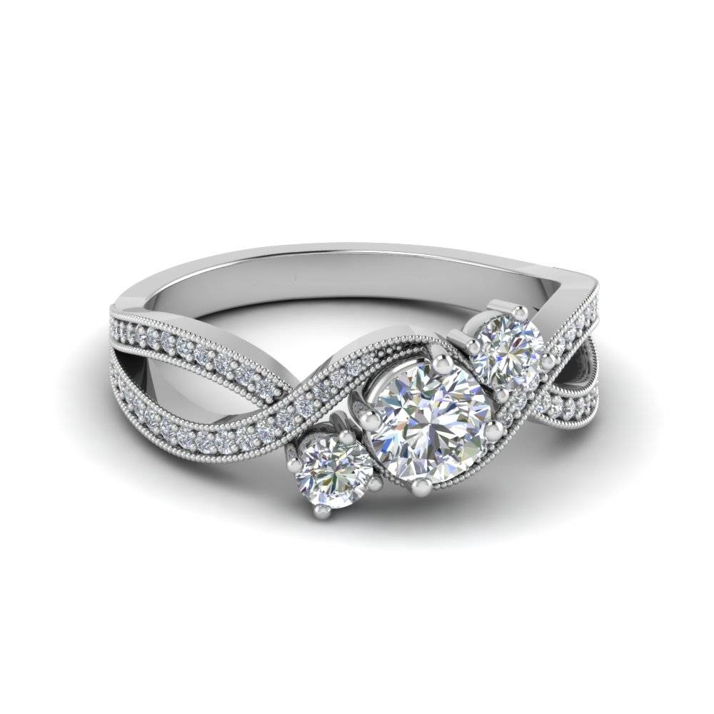 Shop For Latest Twist & Swirl Engagement Rings At Fascinating Diamonds Intended For Spiral Engagement Rings (View 4 of 15)