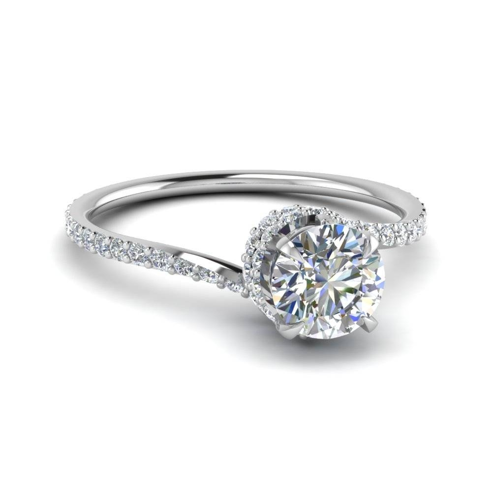 Shop For Latest Twist & Swirl Engagement Rings At Fascinating Diamonds Throughout Spiral Engagement Rings (View 11 of 15)