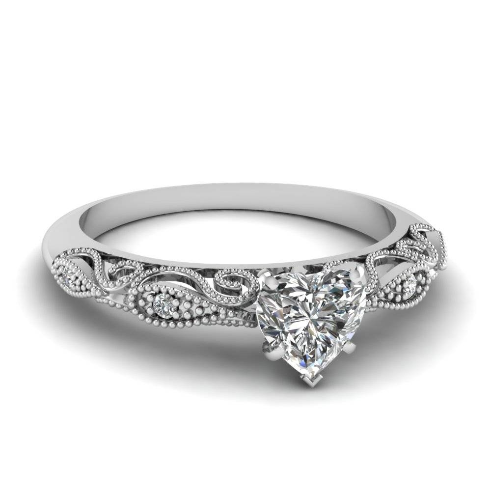 Shop For Unique Heart Shaped Engagement Rings |Fascinating Diamonds Intended For Engagement Mounts (View 7 of 15)