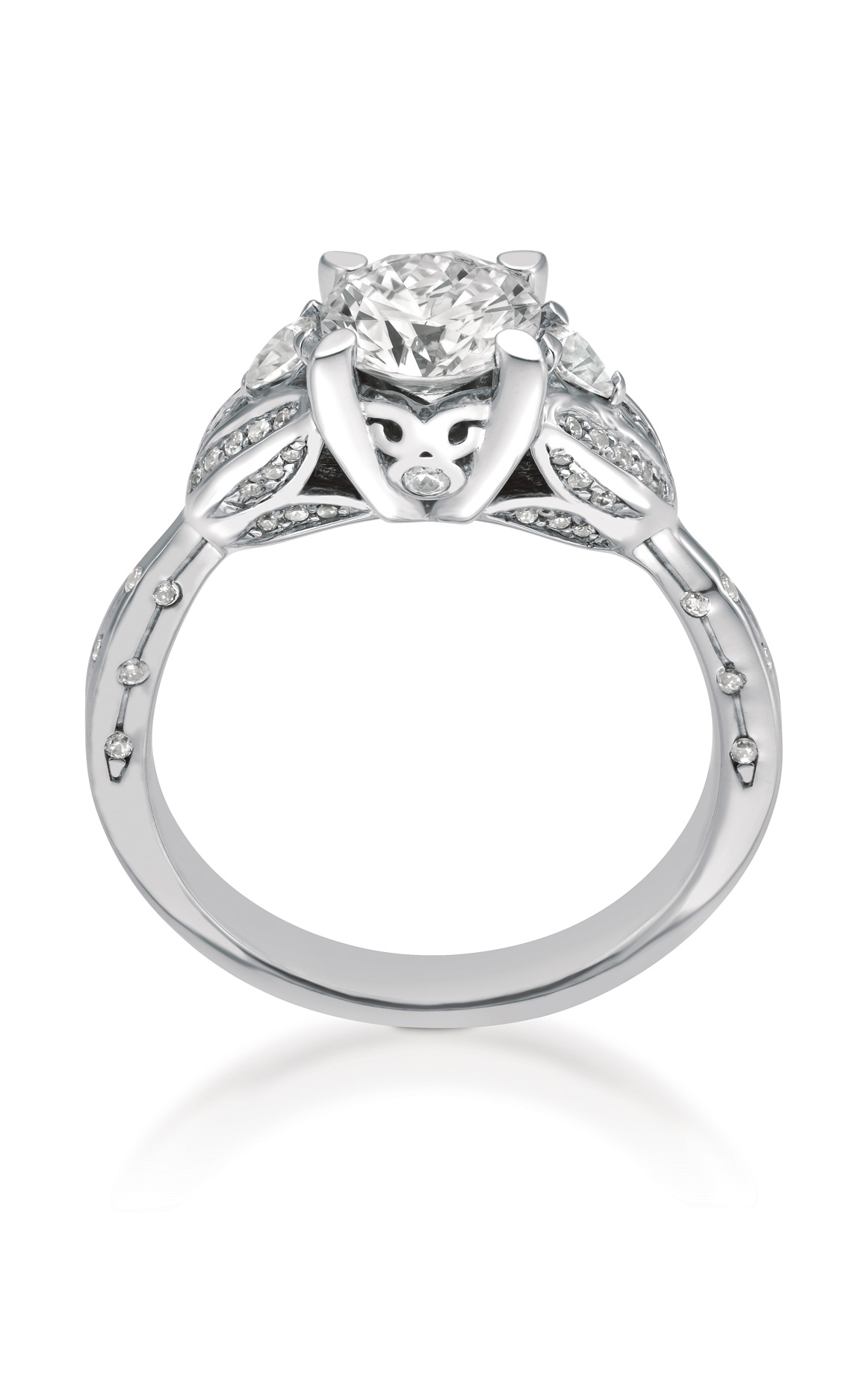 Shop Maevona A081 Tul Pv G8 Engagement Ring | Benari Jewelers With Regard To Scottish Engagement Rings (View 9 of 15)