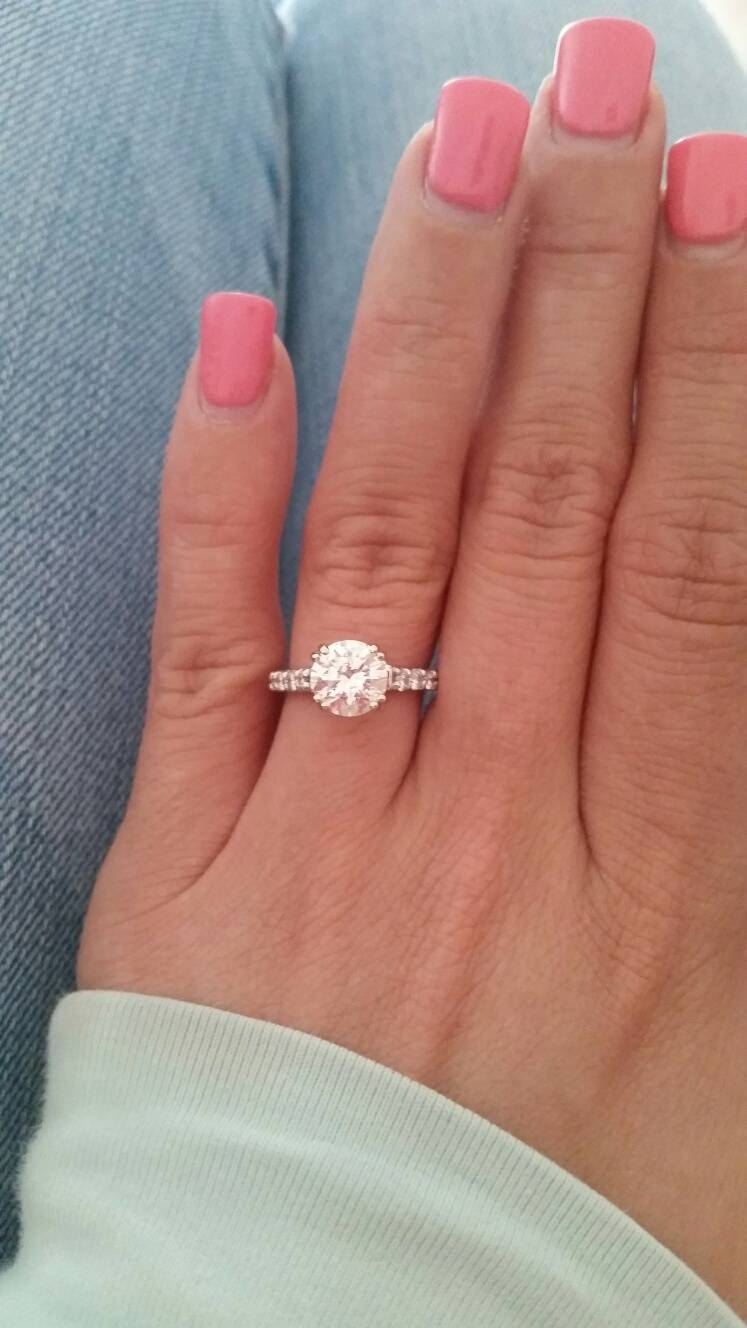 Show Me Your 1.0, 1.5, 2.0 Carat Rings On Size 4  (View 15 of 20)