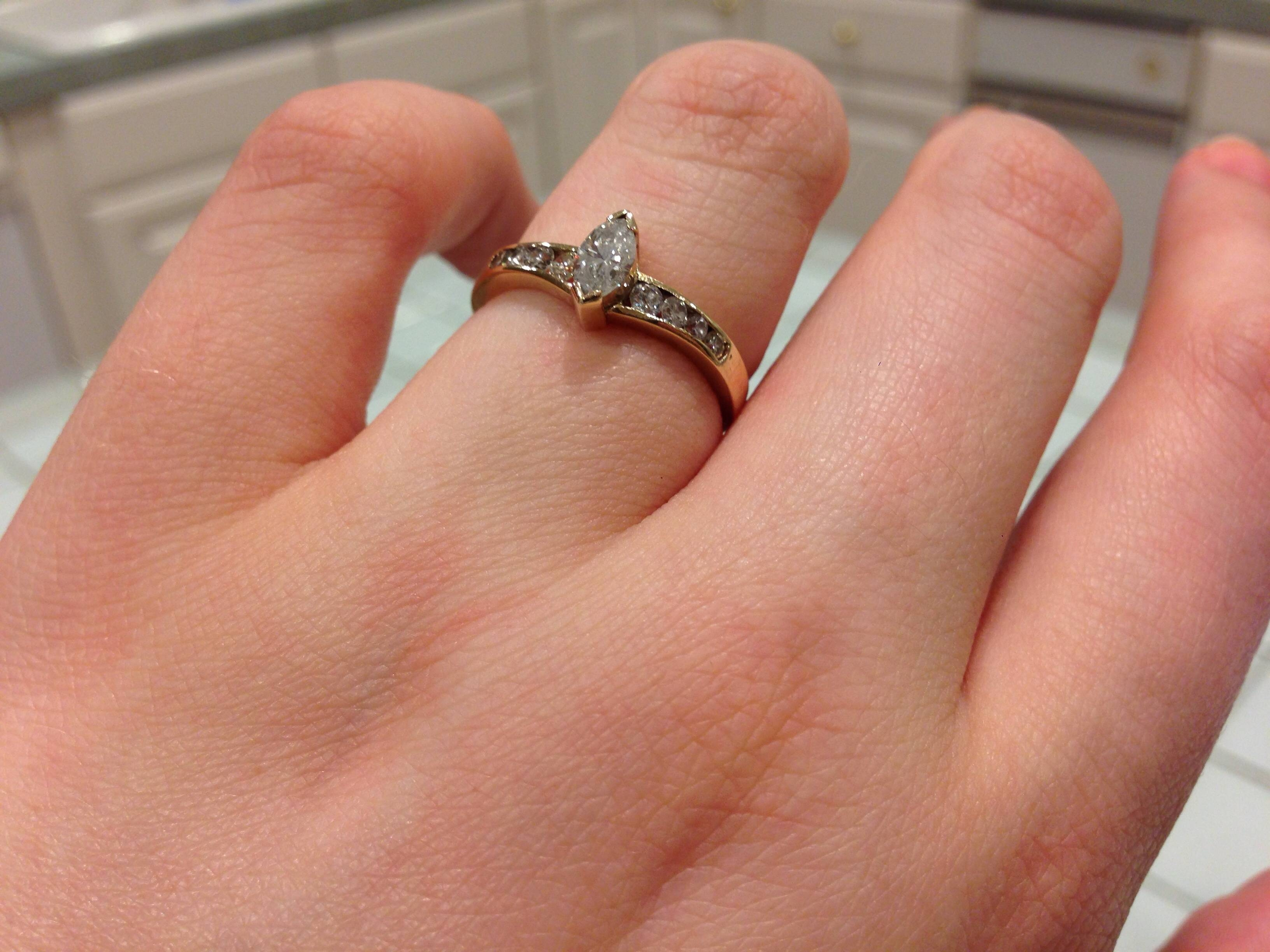 Show Me Your Engagement Rings! – Weddingbee With Regard To Flashy Wedding Rings (View 12 of 15)