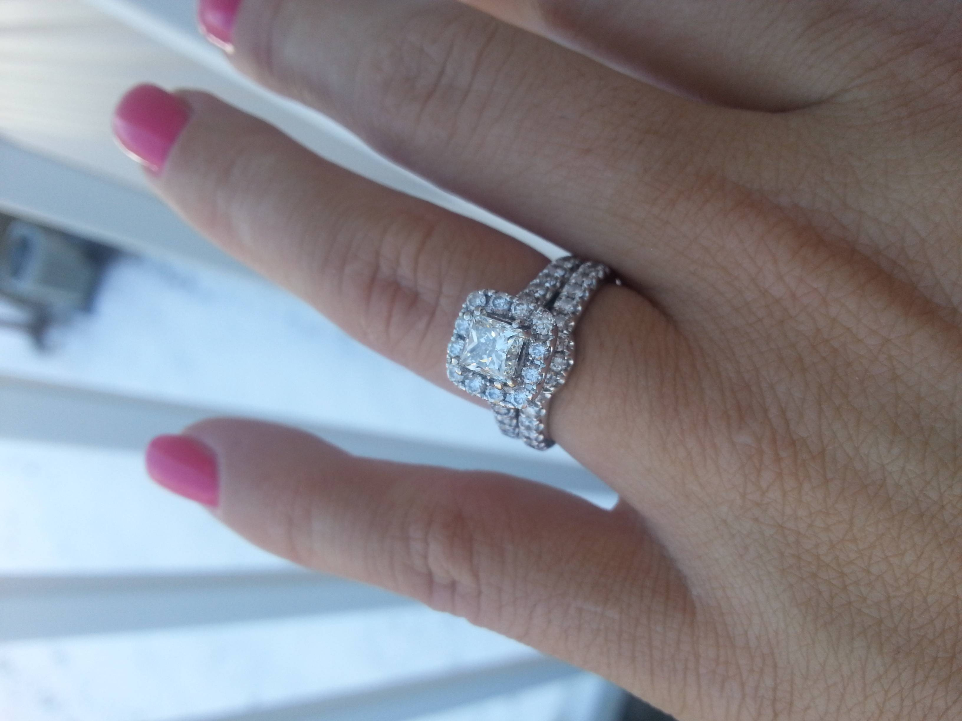 Show Me Your Littman Jewlers, Zales, Kay, Or Jared Rings! – Weddingbee Within Zales Diamond Wedding Bands (View 6 of 15)