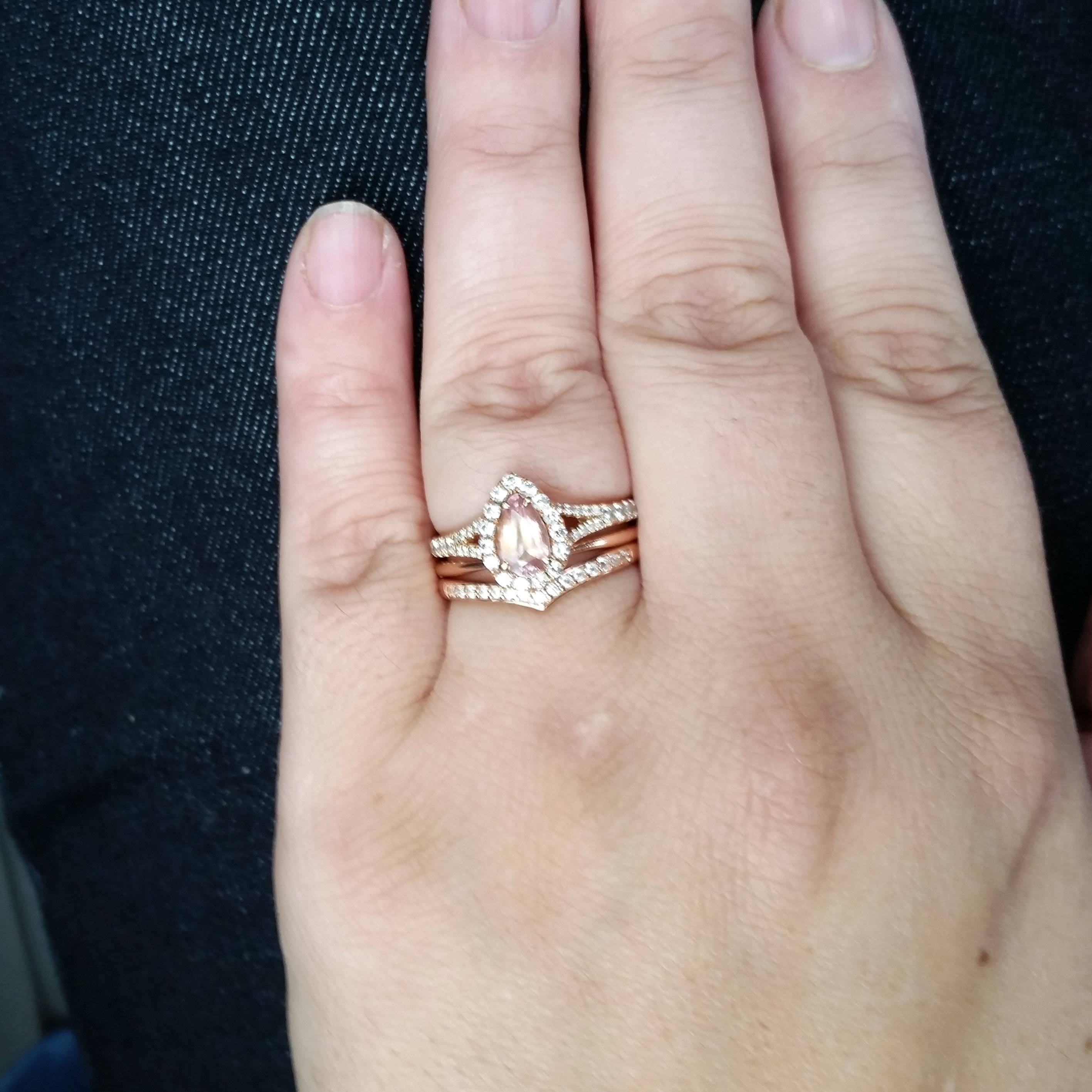 Show Me Your V Wedding Bands! How Comfortable Are They? – Weddingbee Regarding Chevron Wedding Bands (View 13 of 15)