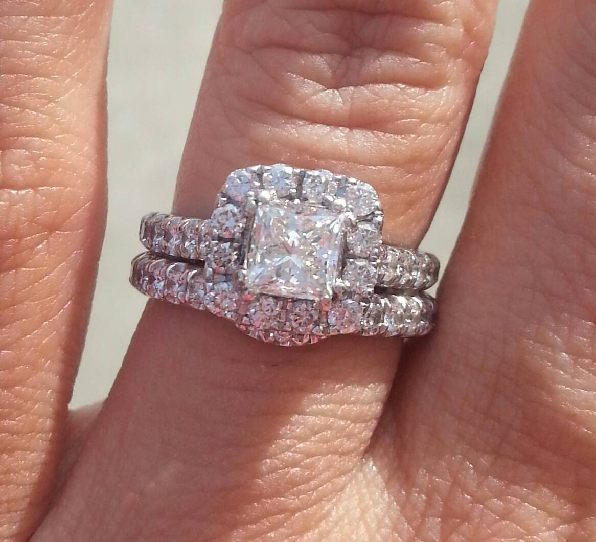 Show Off Your Rings From Kay's! – Weddingbee Intended For Leo Diamond Wedding Bands (View 14 of 15)