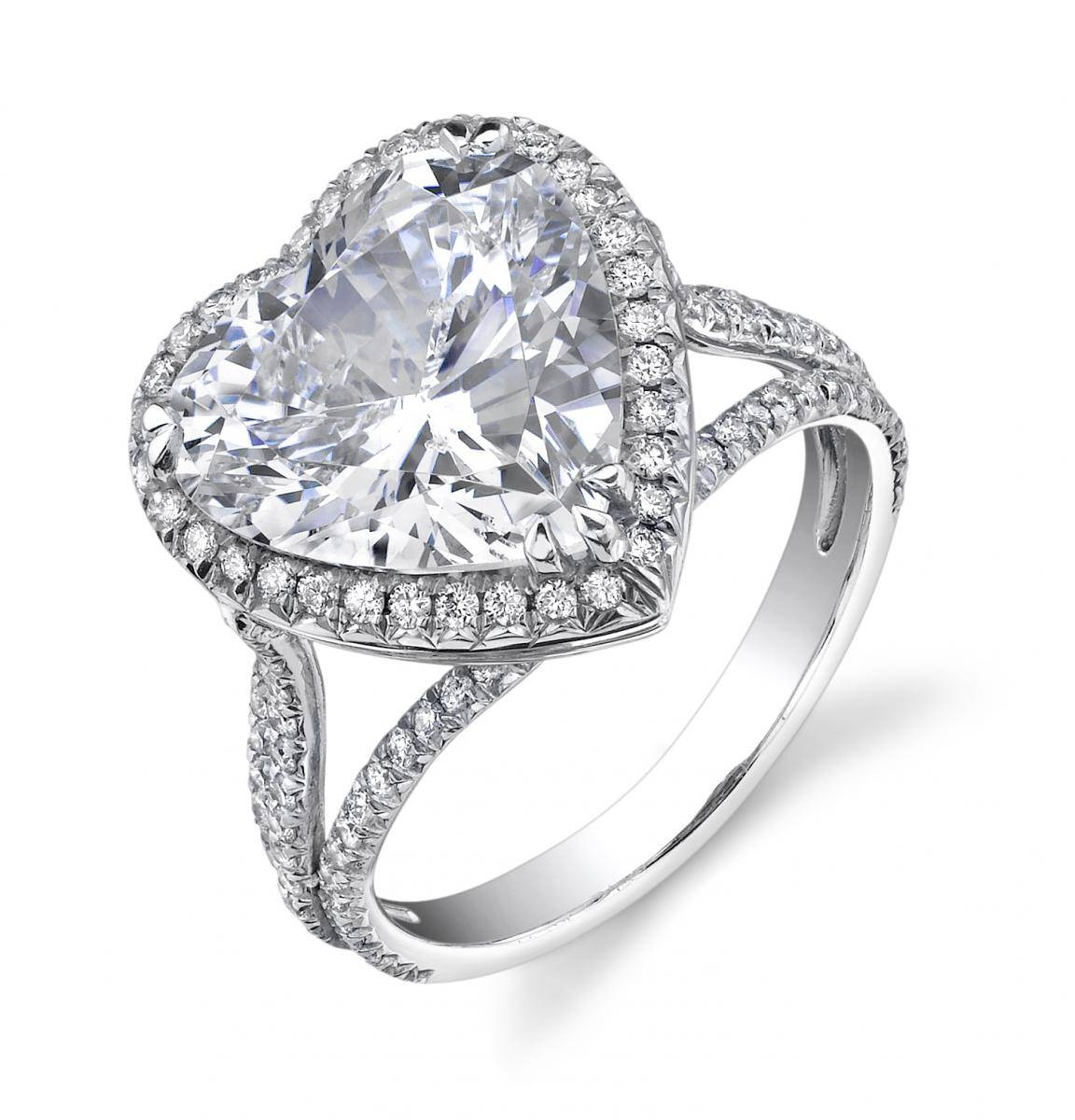 Show Your Lovegiving A Heart Shaped Engagement Ring For Heart Engagement Rings (View 10 of 15)