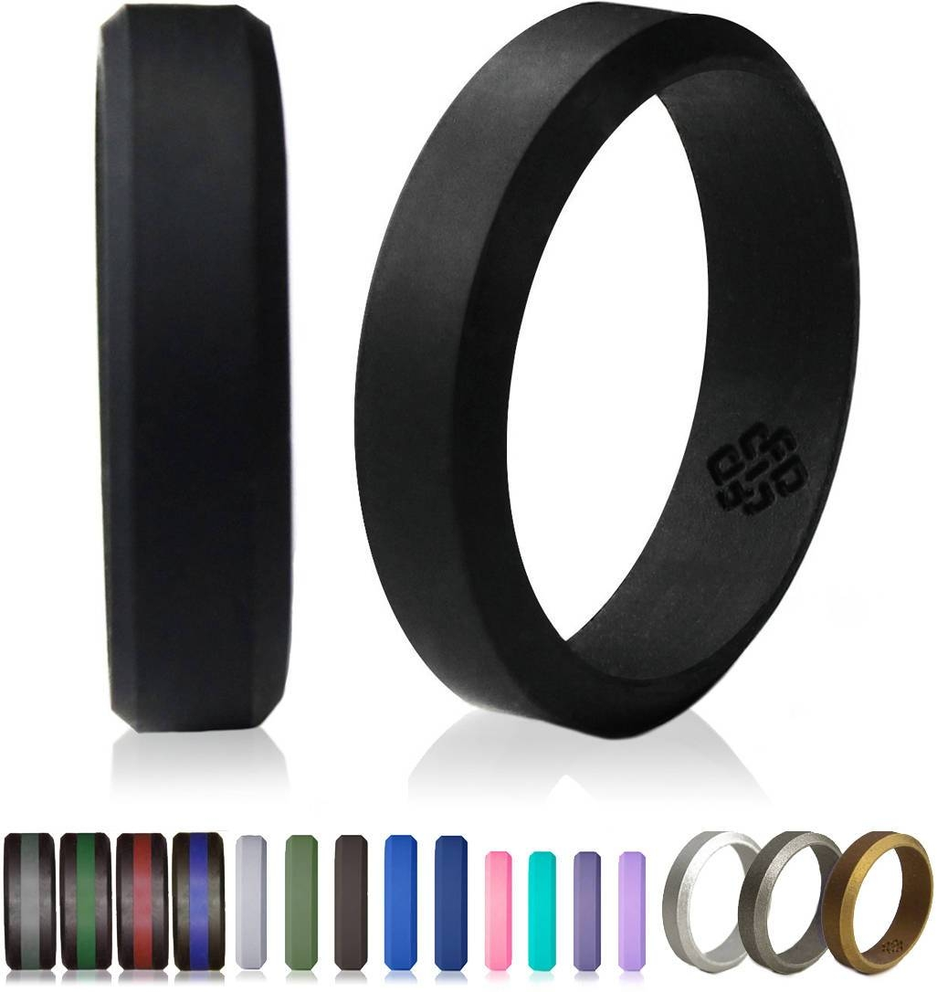 silo bands men safe ring silicone of active set gray new wedding
