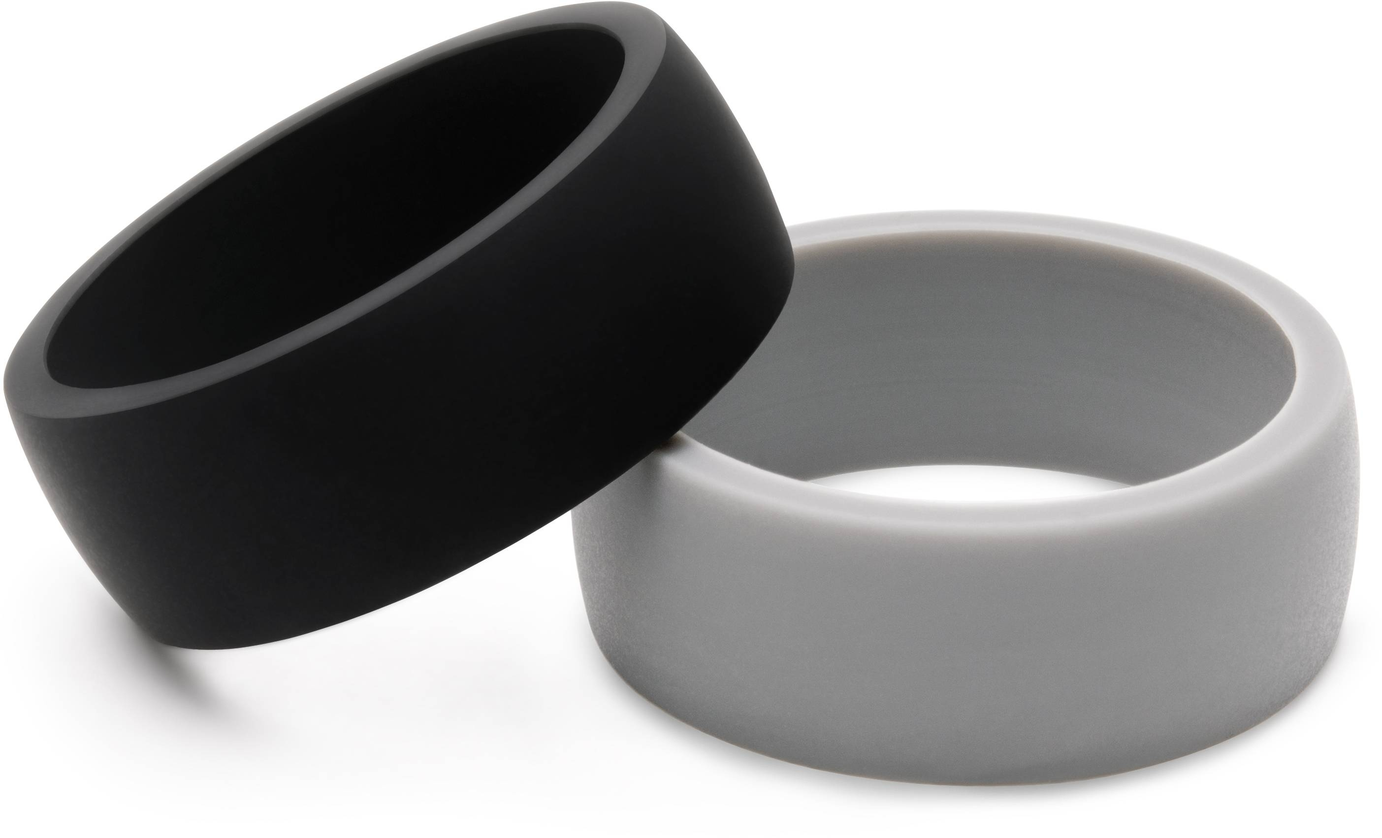 Silicone Wedding Ring, Silicone Wedding Band For Men, 2 Rings Pack Within Plastic Wedding Bands (View 13 of 15)