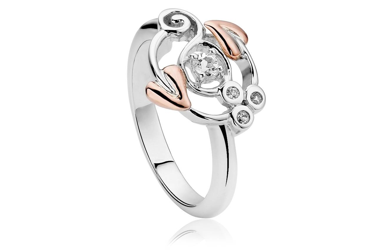 Silver And 9Ct Gold Tree Of Life Origin Ring | Clogau Gold For Tree Of Life Engagement Rings (View 4 of 15)