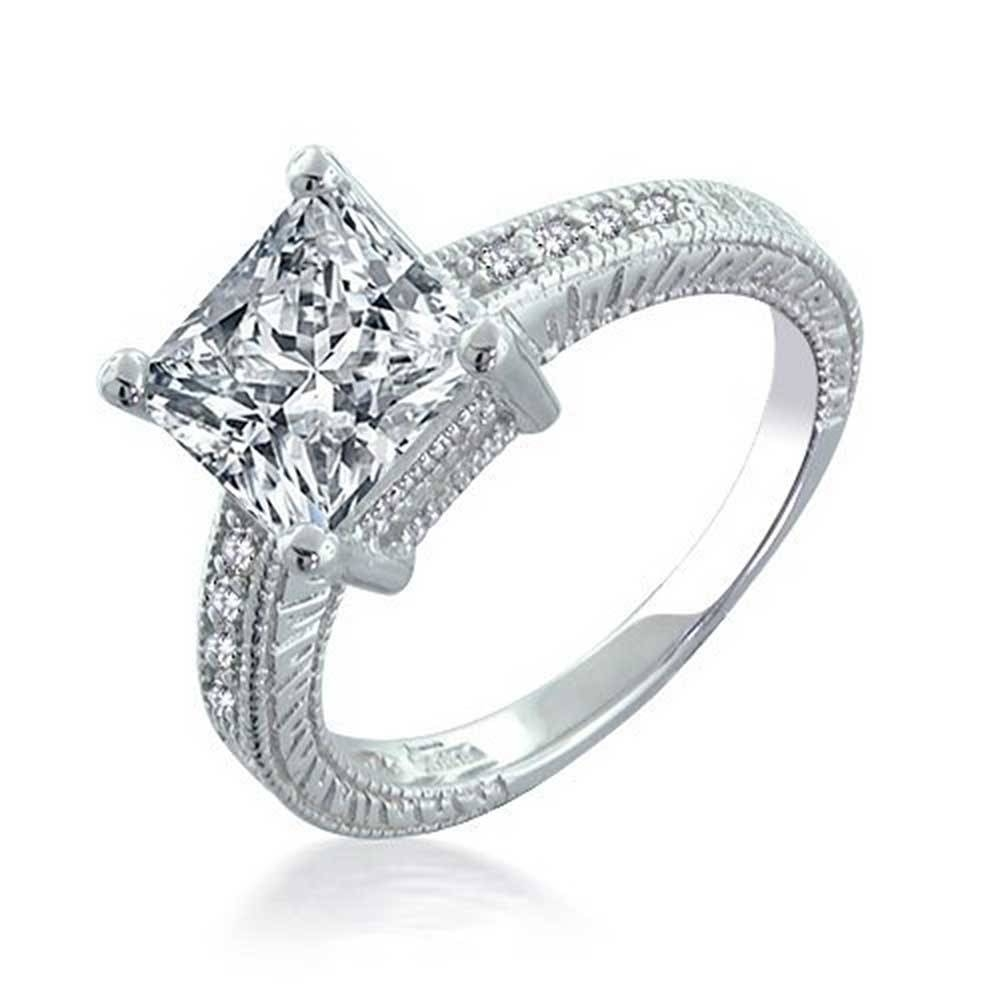 Silver Engagement Rings Best One For The Couples | Wedding With Silver Engagement Bands (View 11 of 15)