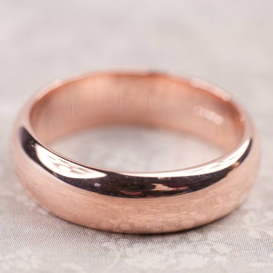 Simple Handmade Mens Wedding Ring In 9Ct Or 18Ct Goldalison Throughout Handmade Mens Wedding Rings (View 9 of 15)