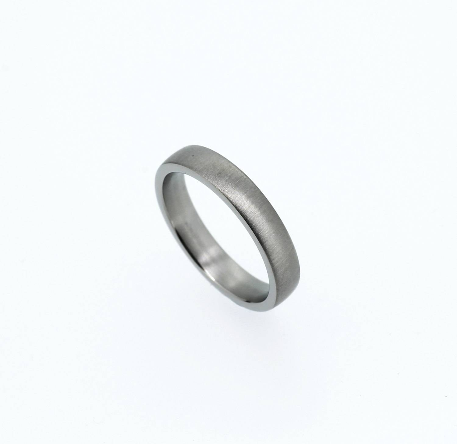 Simple Platinum Wedding Band Matte Wedding Ring Platinum Intended For Men's Thin Wedding Bands (View 13 of 15)