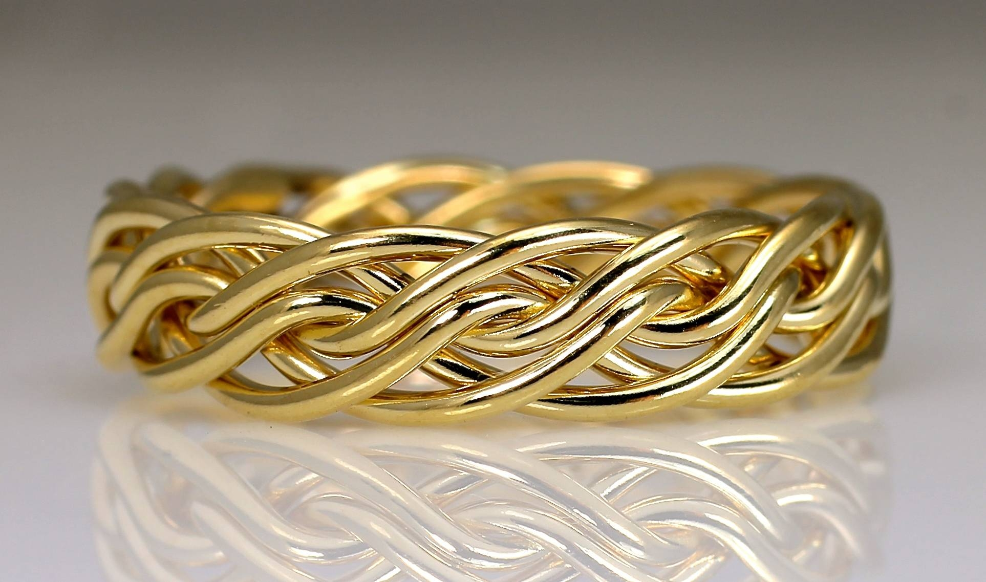 Six Strand Open Weave Braided Wedding Ringsartist Todd Alan Intended For Three Color Braided Wedding Bands (View 14 of 15)