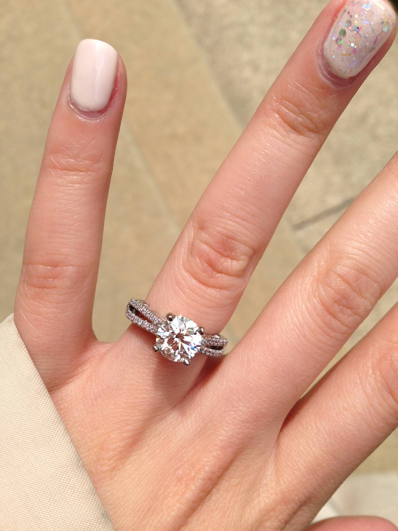 Size 4 Fingers Please Post Your Rings =) – Weddingbee Within Size 4 Diamond Engagement Rings (View 13 of 15)