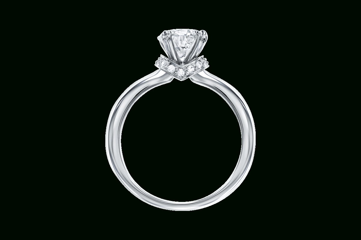 Solitaire Ring With Pavé Collar | Harry Winston Intended For Harry Winston Micropave Engagement Rings (View 10 of 15)