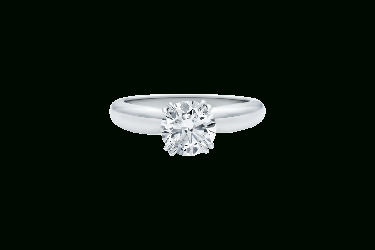 Solitaire Ring With Pavé Collar | Harry Winston Intended For Harry Winston Wedding Bands Price (View 9 of 15)