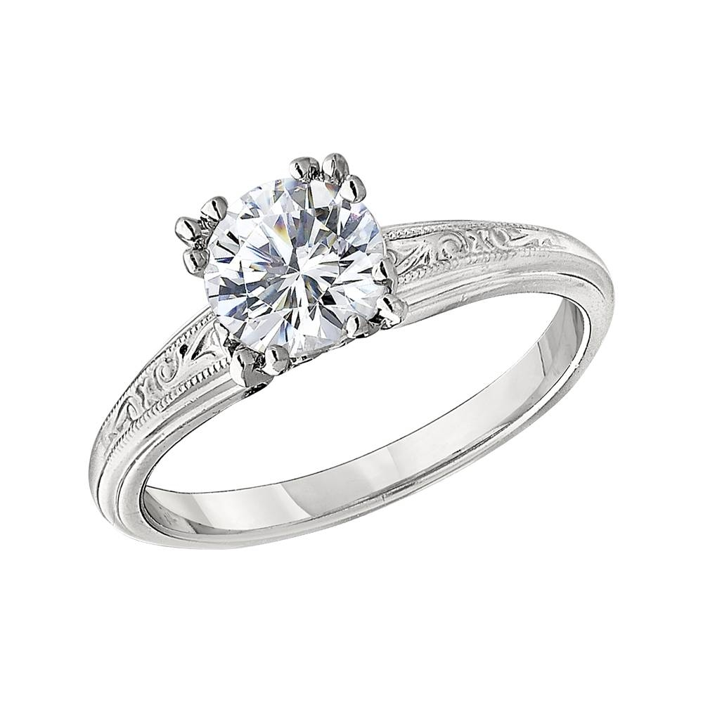 Solitaire Vintage Style Engagement Ring Settings With Regard To Vintage Wedding Rings Settings (View 12 of 15)
