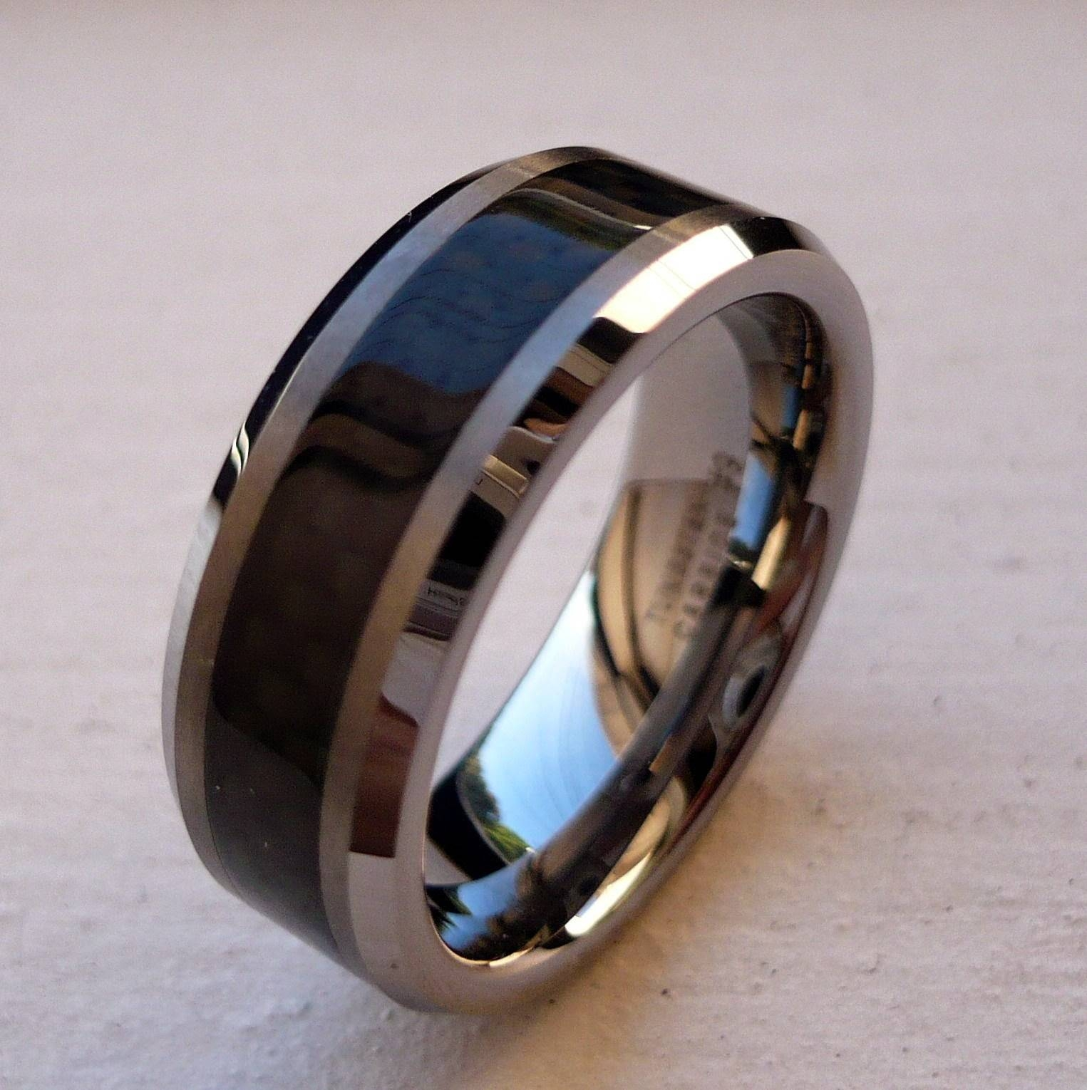 Some Designs Of Black Tungsten Wedding Bands | Wedding Ideas Intended For Matte Black Men's Wedding Bands (View 12 of 15)