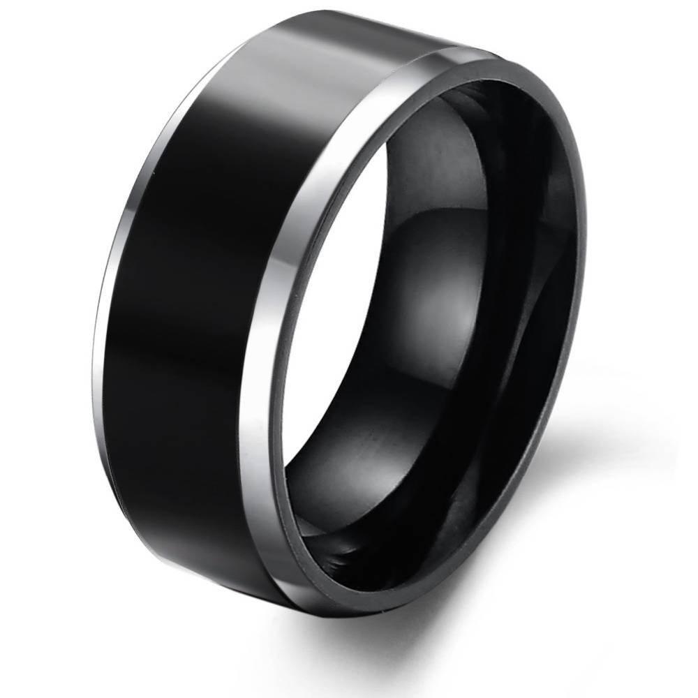 Some Designs Of Black Tungsten Wedding Bands | Wedding Ideas Within Black And Silver Wedding Bands (View 10 of 15)