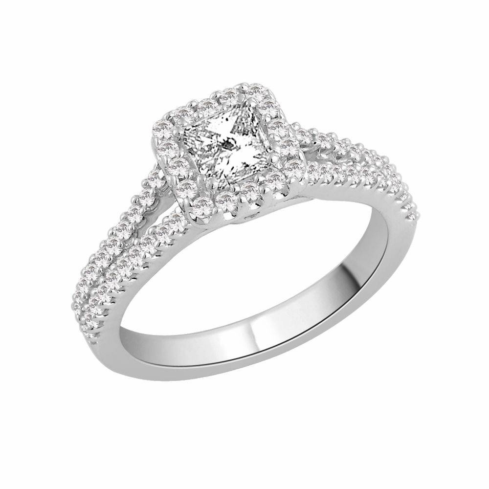 Sparkling 18 Carat White Gold Engagement Ring View 15 Of
