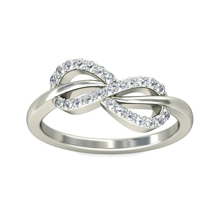 Sparkling Infinity Ring Diamond Engagement Ring  (View 12 of 15)