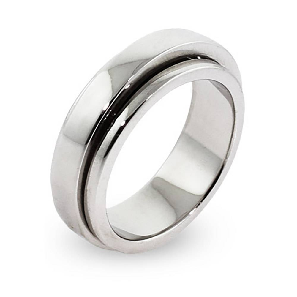 Spinner Rings | Spin Rings | Eve's Addiction® With Regard To Spinning Mens Wedding Bands (View 13 of 15)