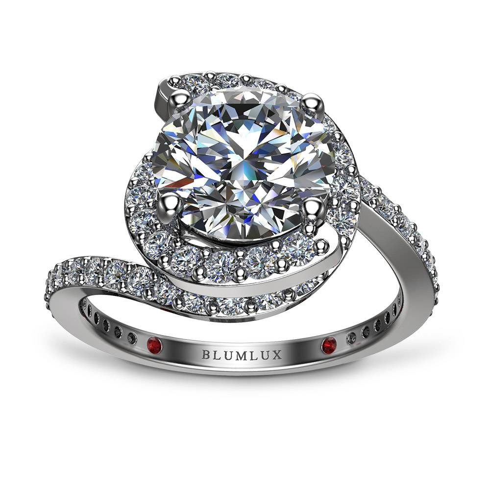 Spiral Pave Engagement Ring Regarding Spiral Engagement Rings (View 3 of 15)