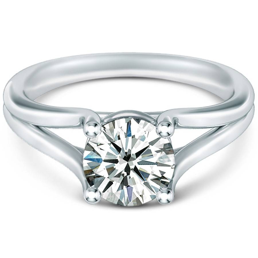 Split Band Diamond Rings | Wedding, Promise, Diamond, Engagement Within Split Shank Wedding Rings (View 3 of 15)