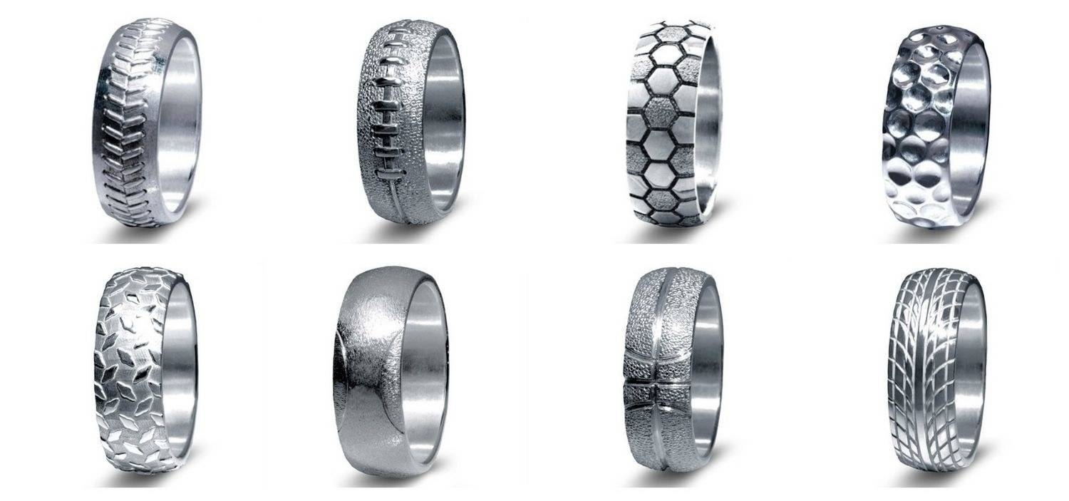 Sports Themed Wedding Rings For Men: Cool Wedding Rings For Grooms With Mens Baseball Wedding Bands (View 2 of 15)