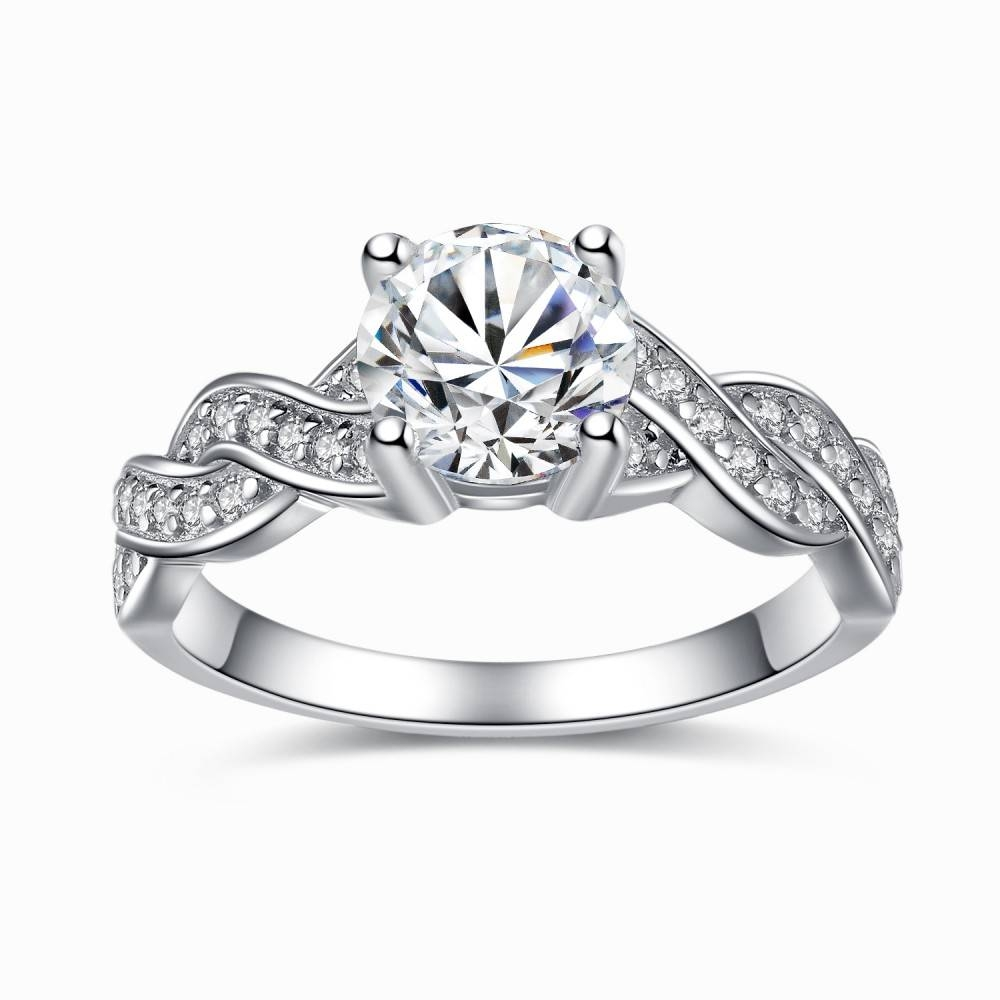 Sterling Silver Cubic Zirconia  (View 10 of 15)