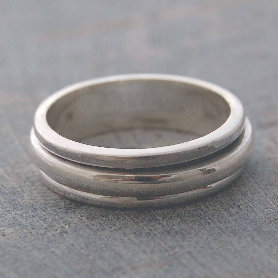 Sterling Silver Spin Ringotis Jaxon Silver Jewellery With Regard To Spinning Mens Wedding Bands (View 14 of 15)