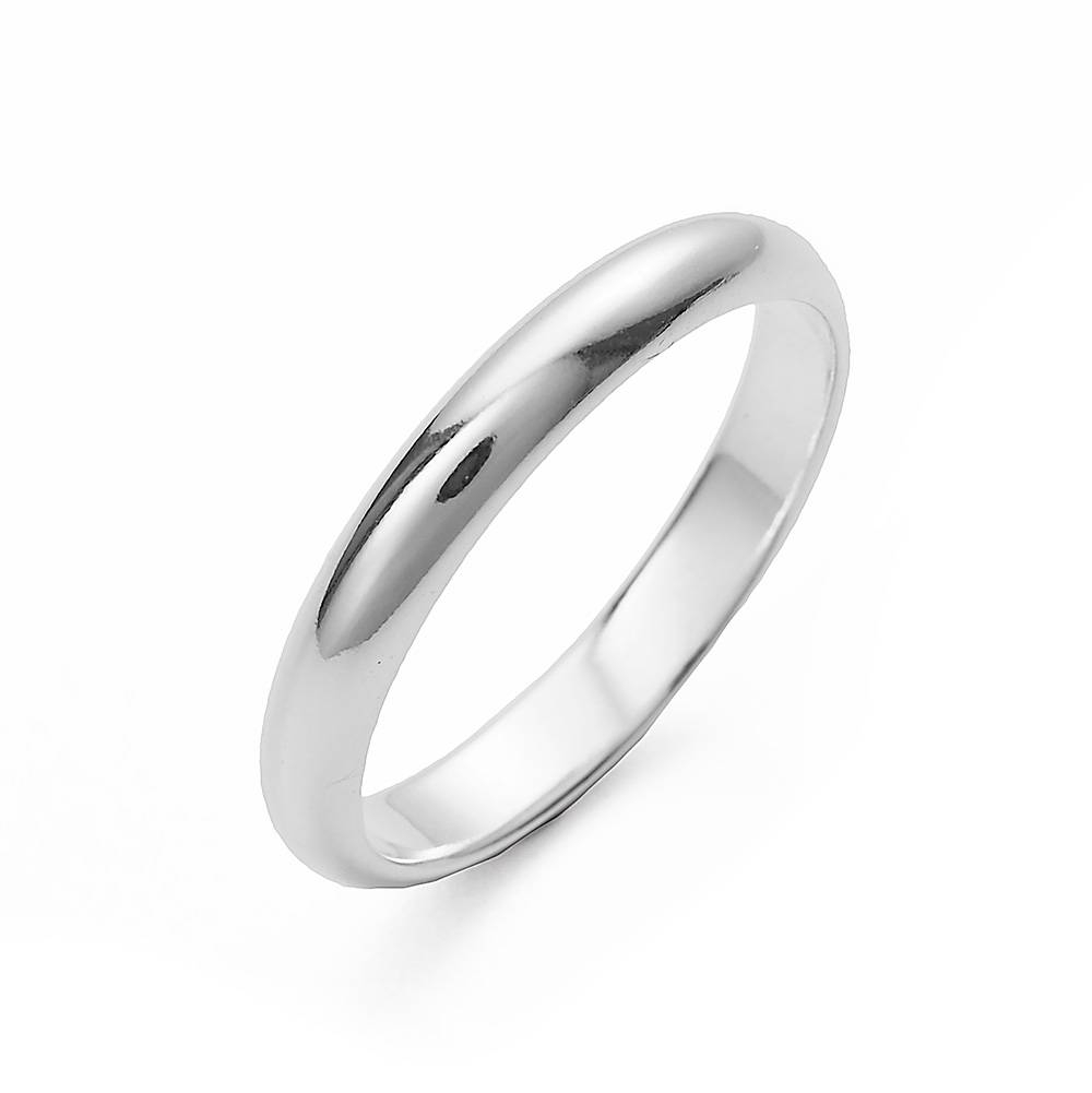 Sterling Silver Wedding Band | Eve's Addiction® Pertaining To Black And Silver Wedding Bands (View 12 of 15)