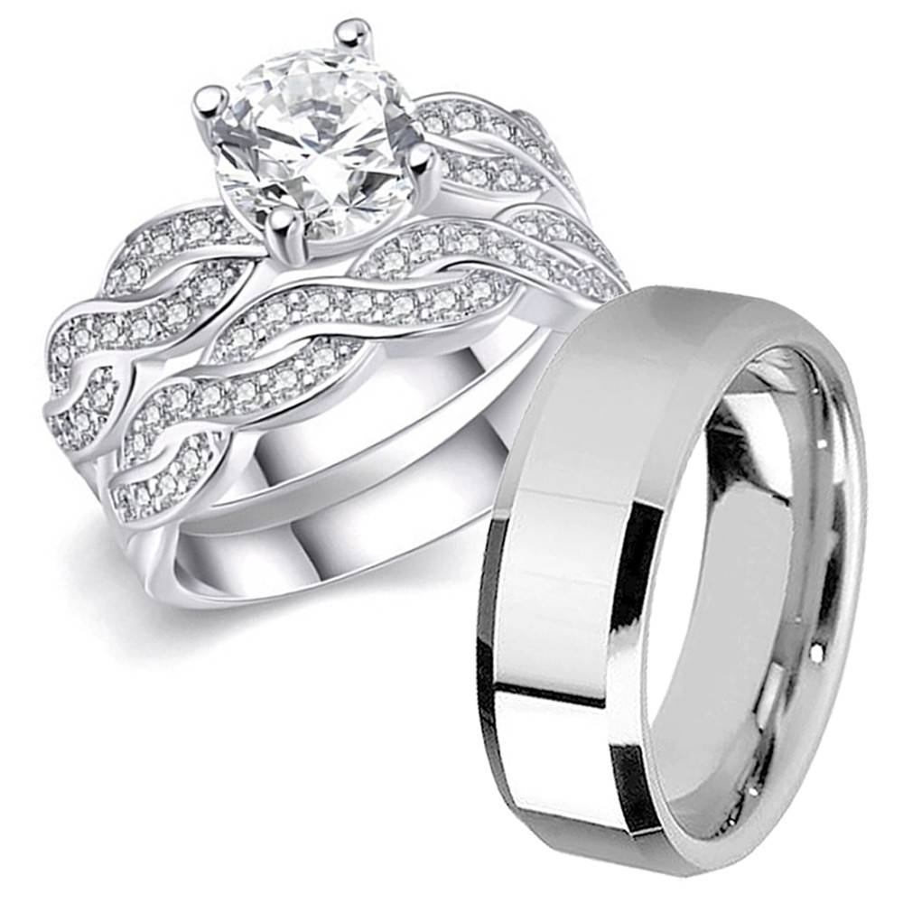 Sterling Silver Wedding Bands For Her – Mens Wedding Rings Intended For Sterling Silver Wedding Bands For Her (View 11 of 15)