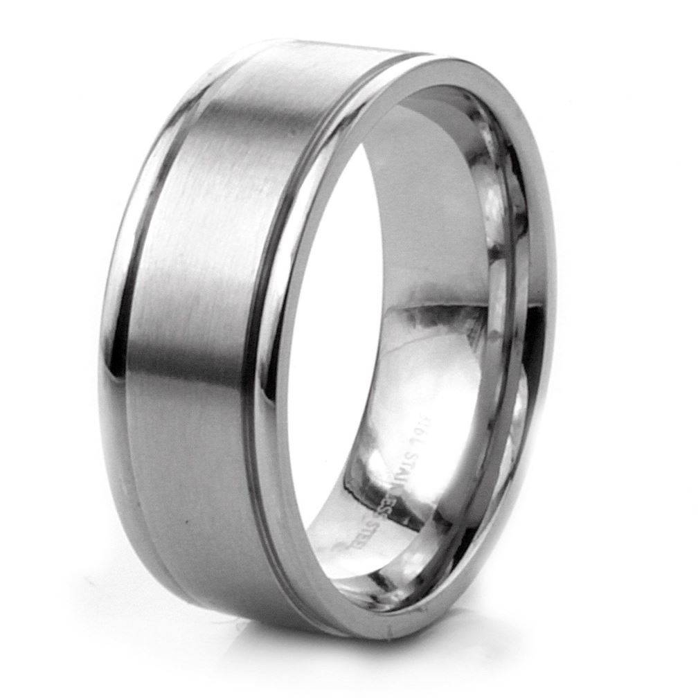 Stunning Decoration Stainless Steel Wedding Ring Stainless Steel Regarding Steel Wedding Bands (View 3 of 15)