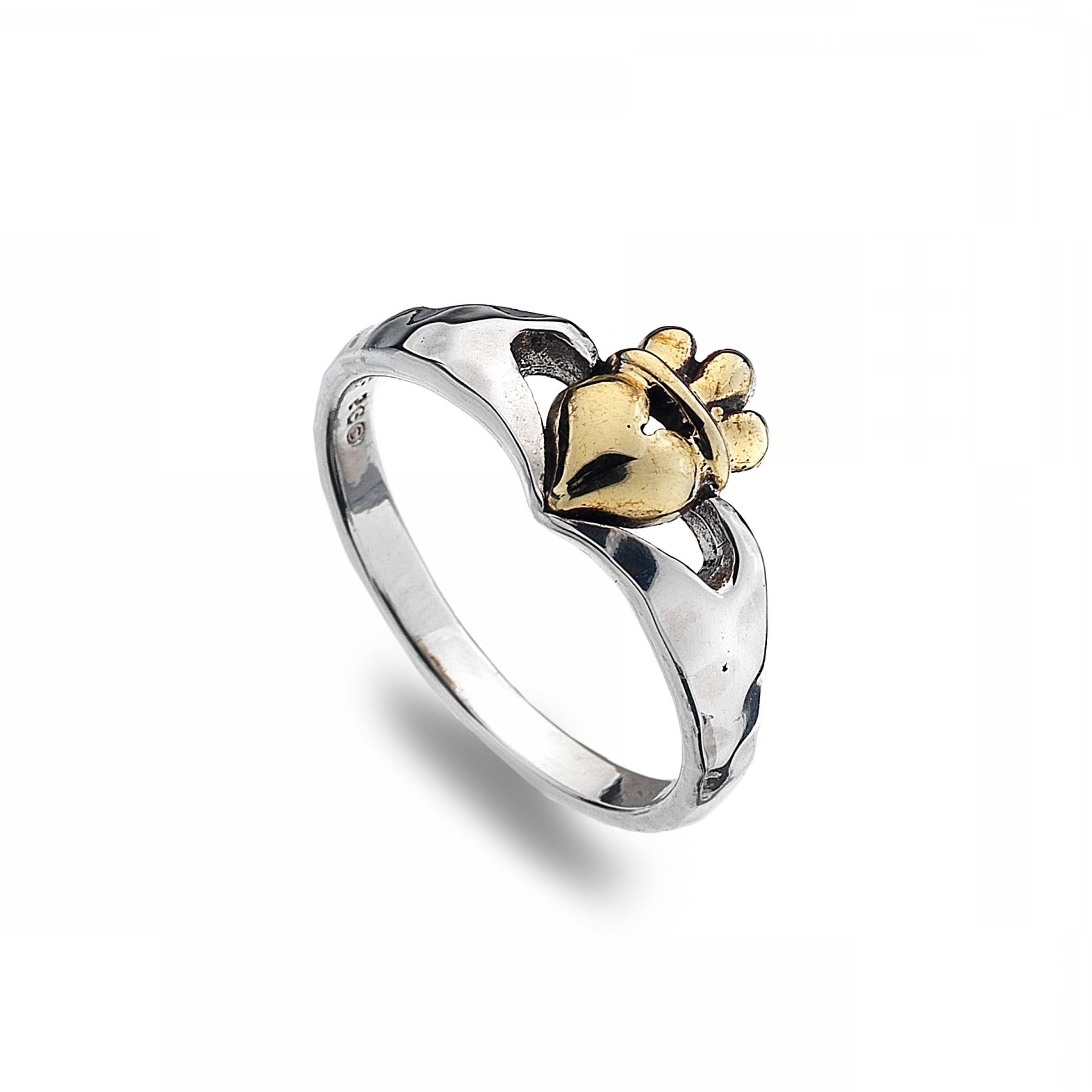 ring knot the celtic band gaelic engagement ladies irish format claddagh boutique rings with