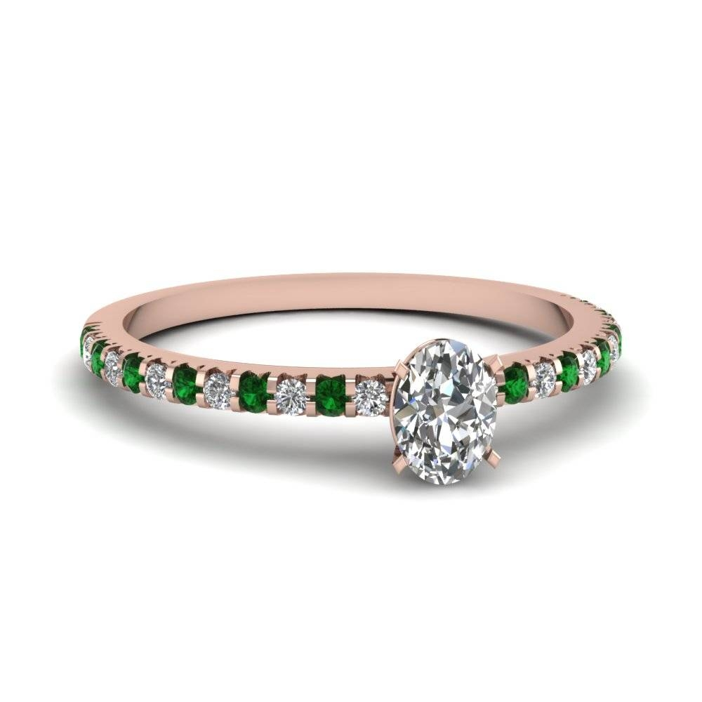 Stunning Small And Petite Engagement Rings | Fascinating Diamonds Within Oval Emerald Engagement Rings (View 13 of 15)