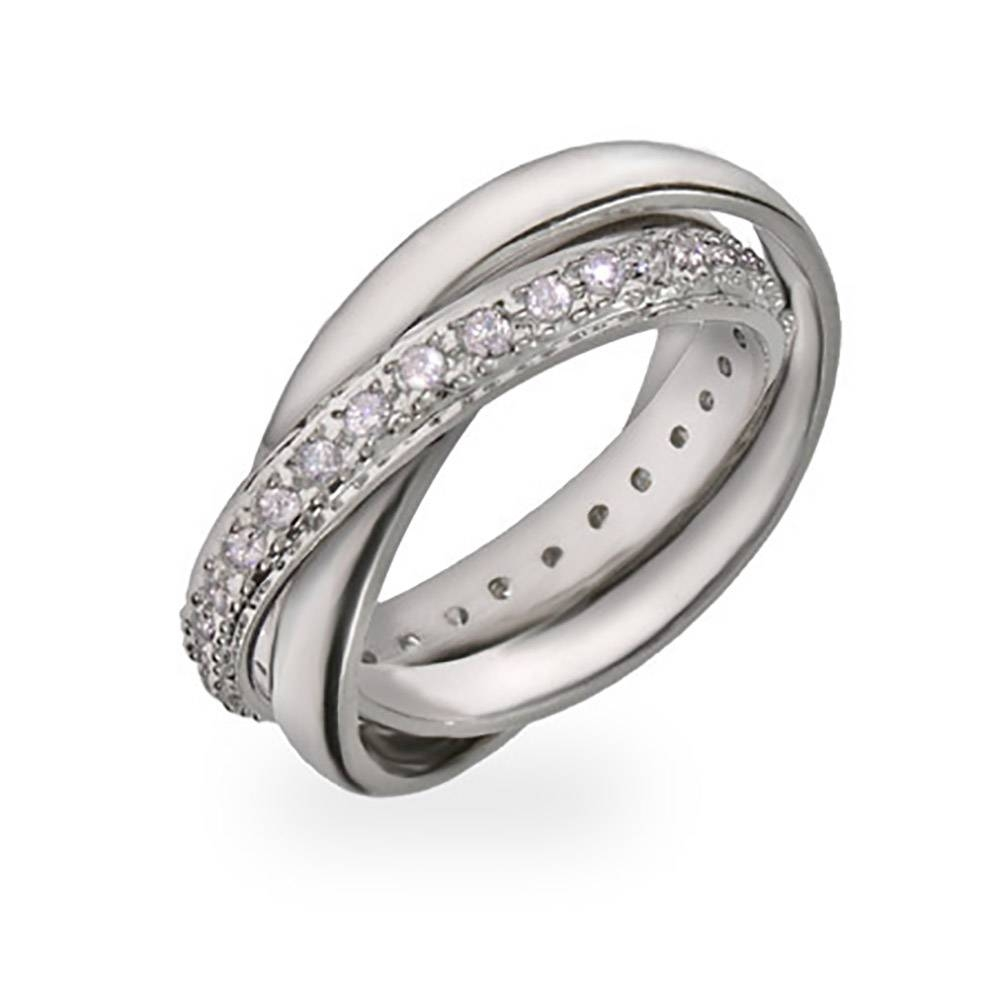 Style Russian Wedding Ring With Cz Band | Eve's Addiction® In Diamond Russian Wedding Rings (View 13 of 15)