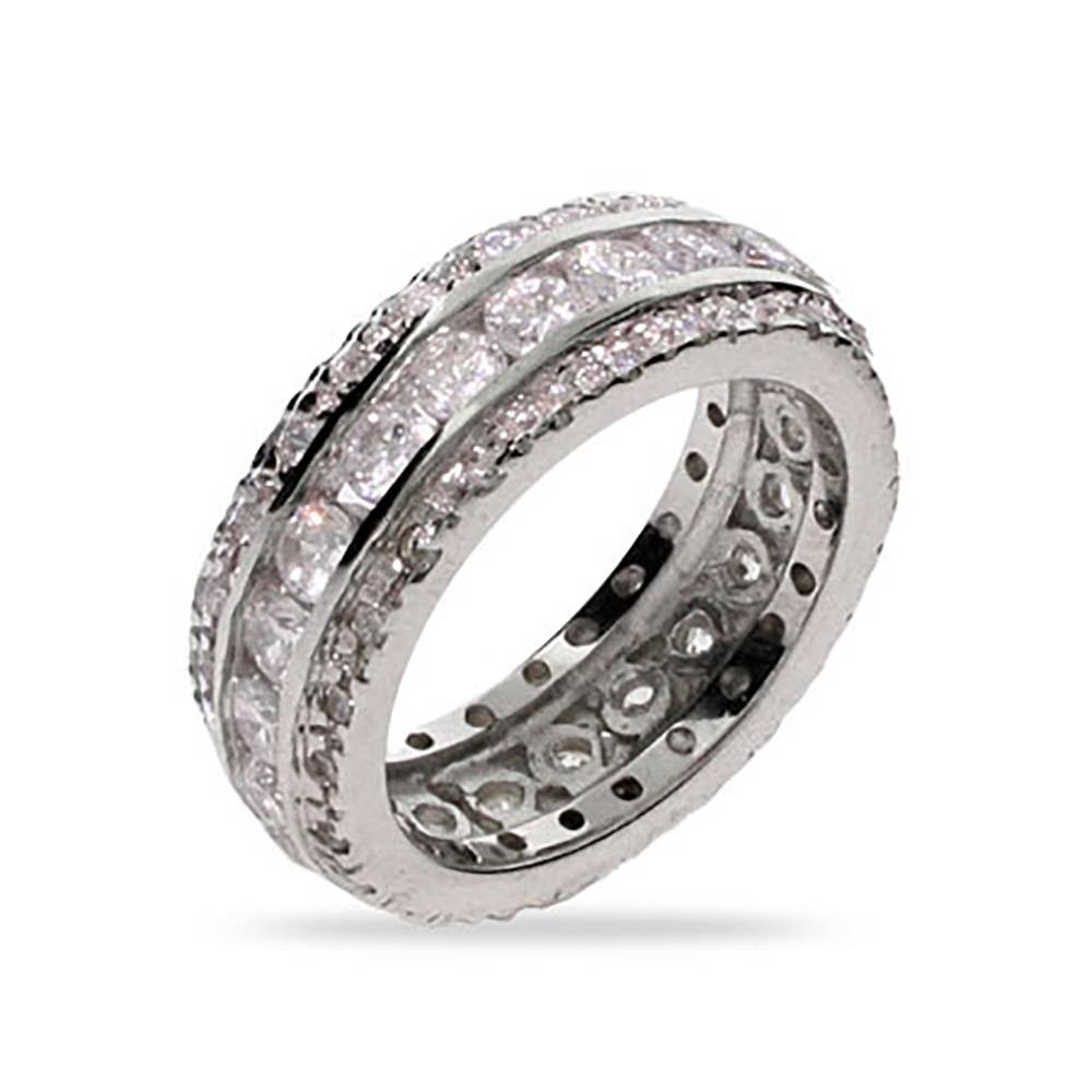 Featured Photo of Men's Cz Wedding Bands