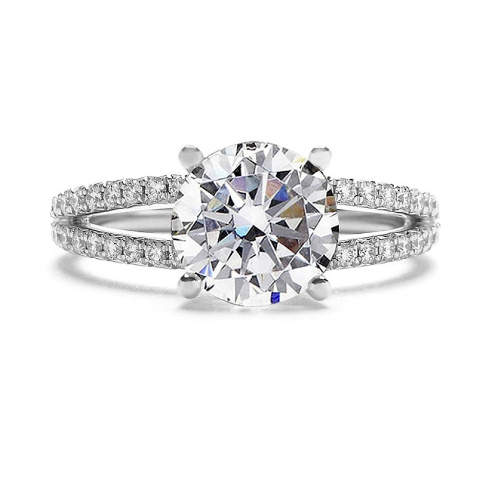 Sylvie Collection Split Shank Diamond Engagement Ring Setting With Regard To Diamond Wedding Rings Settings (View 14 of 15)