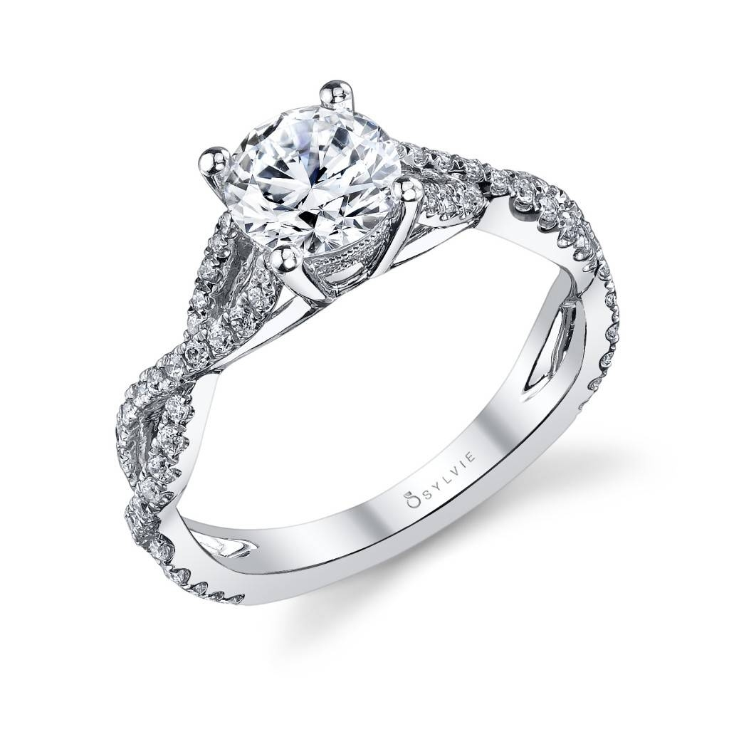Sylvie Infinity Shank Prong Set Engagement Ring – Alexis Diamond Intended For Wedding Band For Infinity Engagement Rings (Gallery 10 of 15)