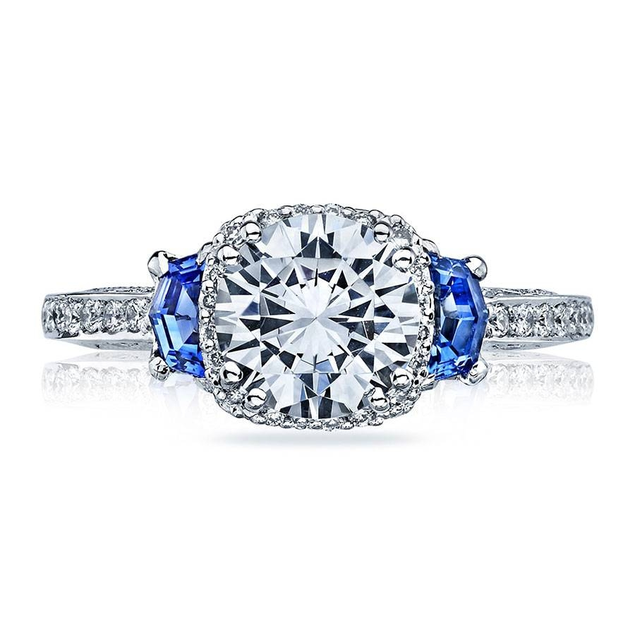 Tacori Engagement Rings Dantela Halo & Sapphire Setting Regarding Engagement Rings With Sapphire (View 14 of 15)