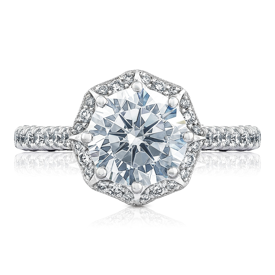 Tacori Engagement Rings Petite Crescent Bloom 0.58Ct Pertaining To Renaissance Engagement Rings (Gallery 7 of 15)