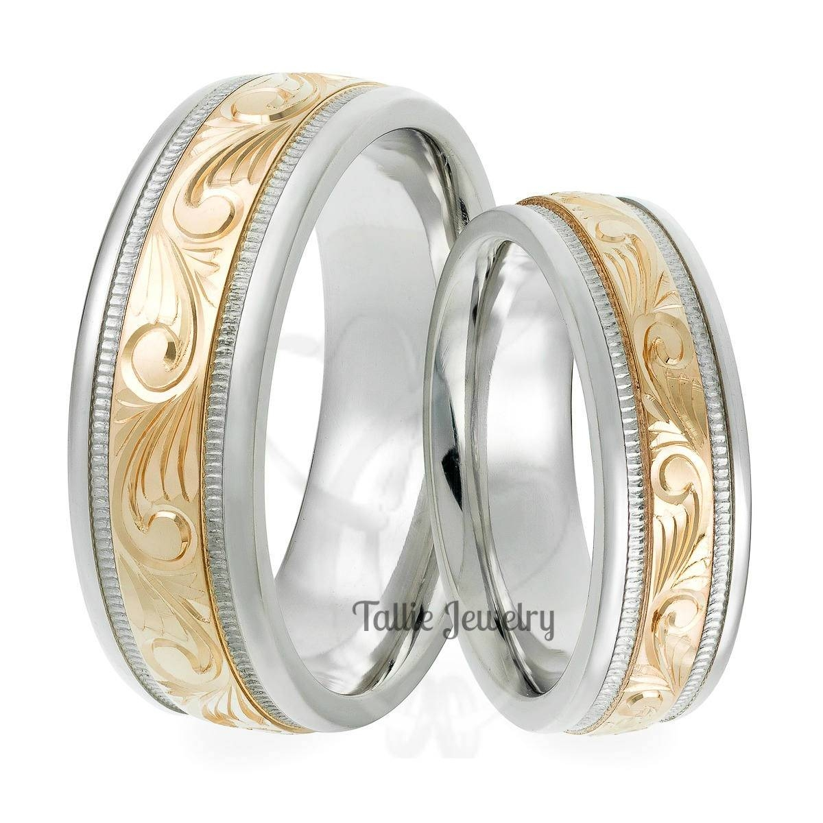 Talliejewelry With Men's And Women's Matching Wedding Bands (View 10 of 15)