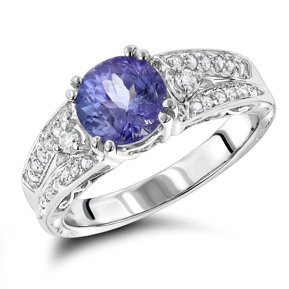 Tanzanite Engagement Ring For Women 14K Gold 0.3 Ctd  (View 15 of 15)