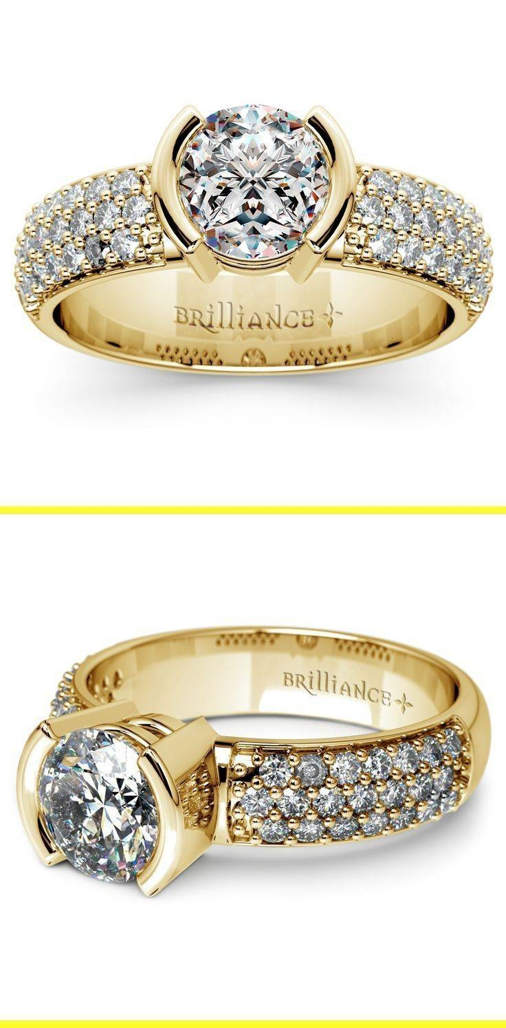 The 25+ Best Bezel Diamond Rings Ideas On Pinterest | Three Rings Inside Bezel Wedding Rings (View 14 of 15)