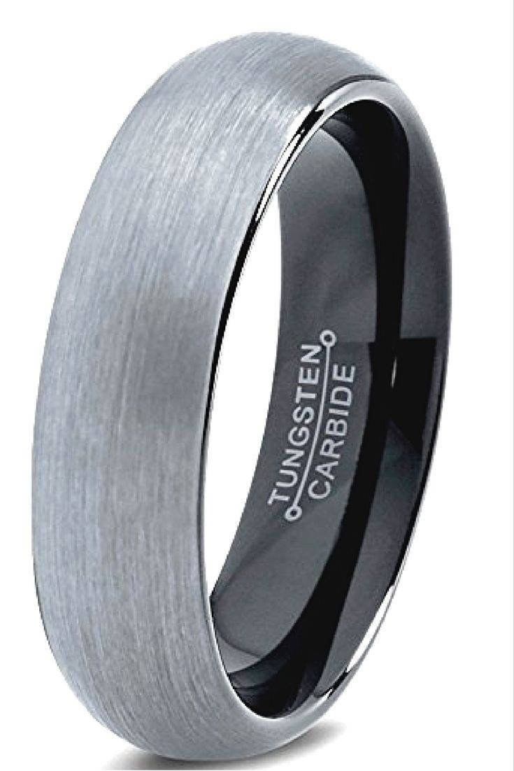 The 25+ Best Modern Mens Wedding Bands Ideas On Pinterest | Men Regarding Black And Silver Mens Wedding Rings (View 12 of 15)