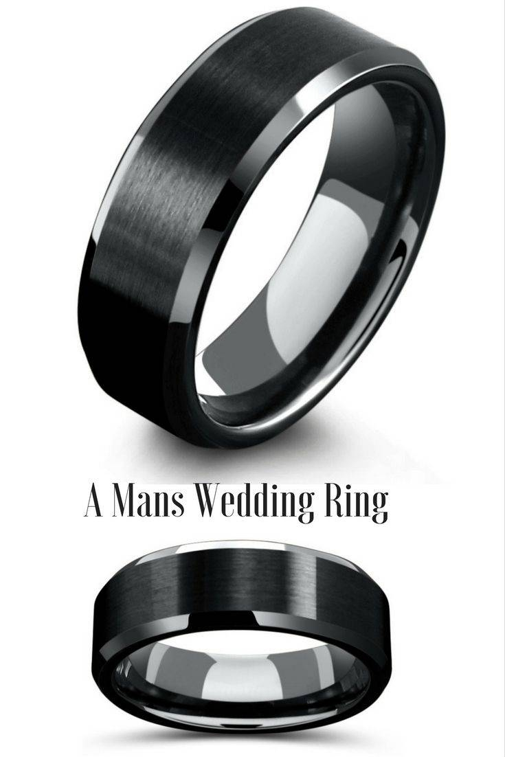 The 25+ Best Tungsten Wedding Bands Ideas On Pinterest | Men Throughout Black Wedding Bands (View 9 of 15)