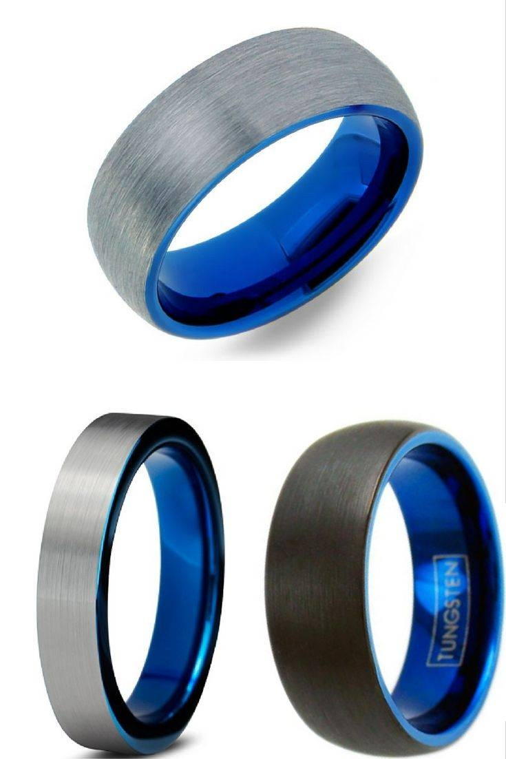 The 25+ Best Tungsten Wedding Rings Ideas On Pinterest | Mens With Regard To Blue Wedding Bands For Him (View 8 of 15)